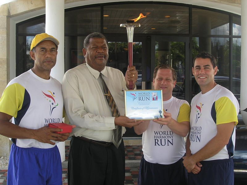 Prime Minister Baldwin Spencer of Antigua & Barbuda with team members