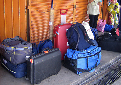 WHR luggage on the road!