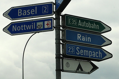 in Switzerland everything is organised: even the rain gets street signs...