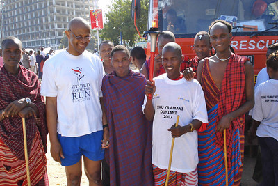 Manatita with members of the Masai tribe