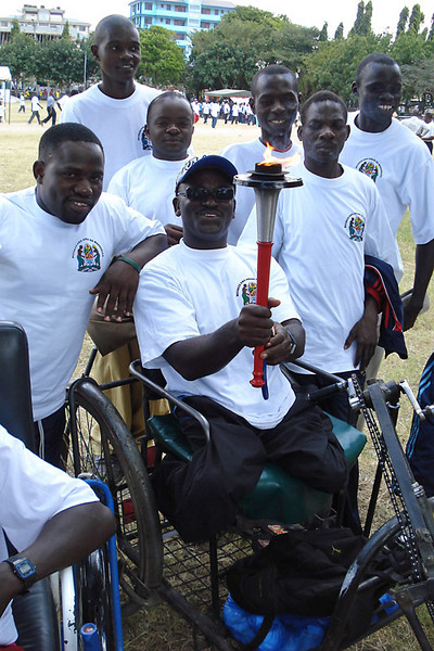 Members of the Paralympic National Team with the WHR torch.