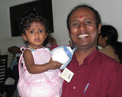 Senthil and his lovely daughter Durga, our local organiser