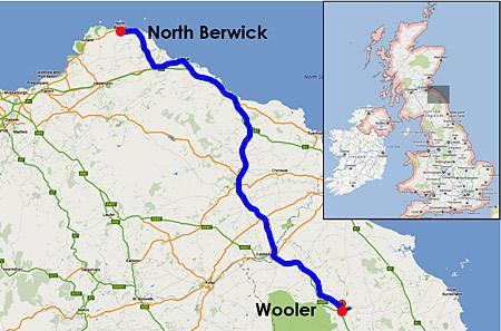 Great Britain 22 March: North Berwick - Wooler | World Harmony Run