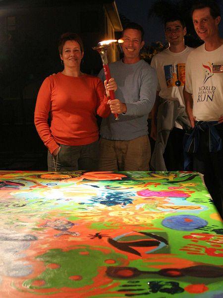Usa 7 june long beach ca ventura ca world harmony run for Art miles mural project